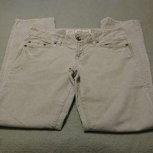 LOFT slim & straight sand corduroy pants size 4
